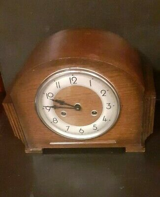 Bentima With Perivale Movement Time & Strike Mantel Clock Working