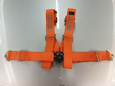 "3"" Driftworks TRS COBRA 4 point orange harness (not schroth omp sparco)"