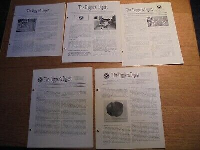 Lot of 5 Diggers Digest No. California Archaeological Society Newsletter 1962