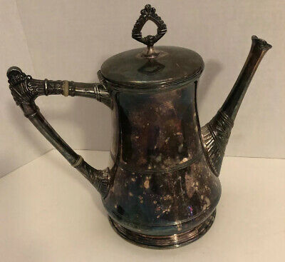 Antique Pairpoint Mfg Co Quadruple Silver Plate Tea  Coffee Pot 302