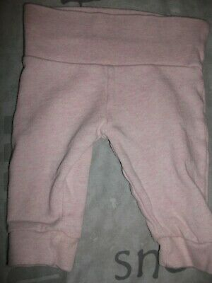 Baby Girls Pink Fleece Lined Joggers - Age 0-3 Months