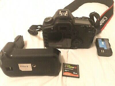 Canon EOS 5D Mark II DSLR Camera Body with Battery Grip, 1 Battery & CF Card