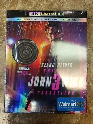 New John Wick Chapter 3 Parabellum Blu-ray/Digital + Coin Wal-Mart Exclusive