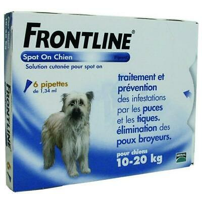 FRONTLINE Spot On chien 10-20kg - 6 pipettes