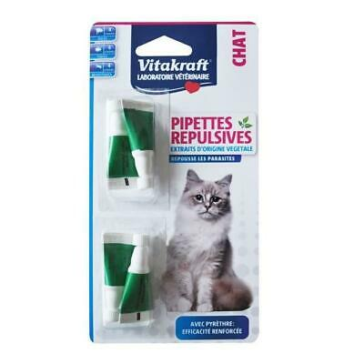 VITAKRAFT Pipettes repulsives au pyrethre - P-4 - Pour chat