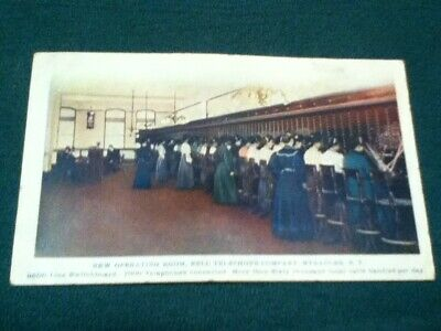 Vintage Postcard Over 110 years old. New Operating Room.Bell Telephone.Syracuse.