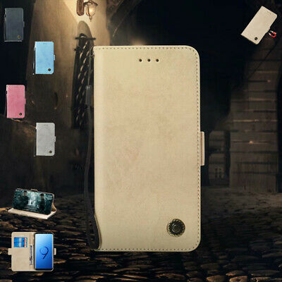 New Retro Leather Magnetic Flip Wallet Stand Case Cover For Samsung Galaxy Phone