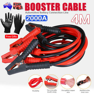 2000AMP 4M Jumper Leads Surge Protected Long Heavy Duty Car Jump Booster Cables