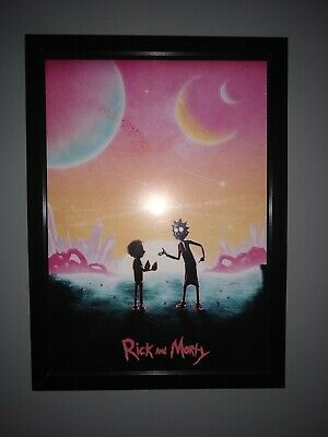 Rick and Morty A3 Etsy Custom Printed Poster Minimalist