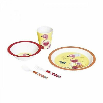 Set Pappa Bambooware por Walking Mum Flamingo