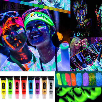 IMAGIC Neon  Color Body and Face Paint UV Reagent Makeup Flash Temporary-