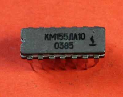 CDIP14 CERAMIC USSR NOS SN 7400 J IC KM155LA3 = SN7400J Lot of 10 pcs