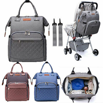 Multi-use Large Tote Baby Mummy Bag Changing Bags Diaper Nappy Rucksack Backpack