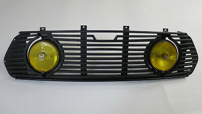 NOS Classic Rover Mini Grille with extra yellow lights