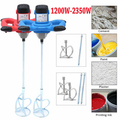 Paddle Mixer Drill Cement Stirrer 1900W With 6 Speed Paint Feed Cement Mixing
