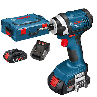 Bosch Professional GDR 18-LI Cordless Impact Driver with Two 18 V 1.5 Ah -