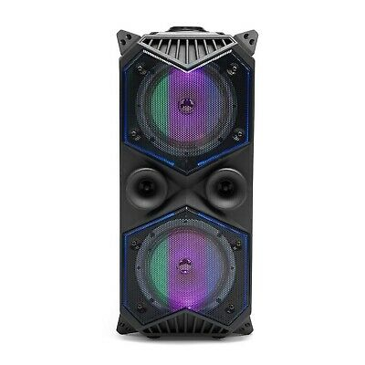 Intempo Portable Party LED Bluetooth Speaker w/ Handle 15M Range Rechargeable
