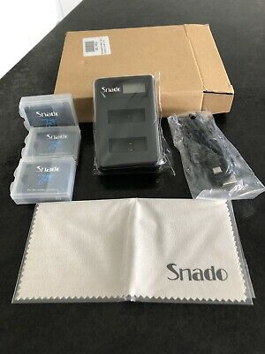 Snado Rechargeable Battery 1220mAh & Dual LCD Battery Charger for GoPro Hero