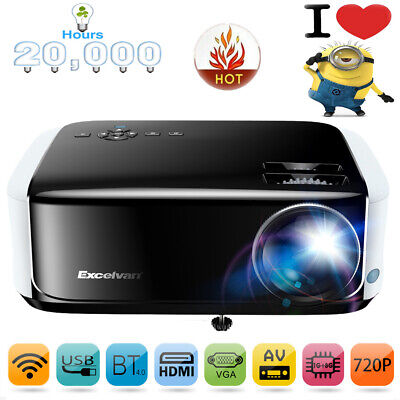 LED Multimedia Home Cinema Video Projector WIFI HDMI HD 1080p Android 1G+8G AV