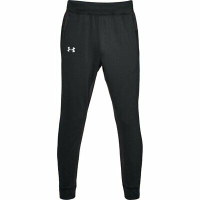 UA Under Armour Men's Rival Fitted Tapered Jogger Trousers S M L XL black grey