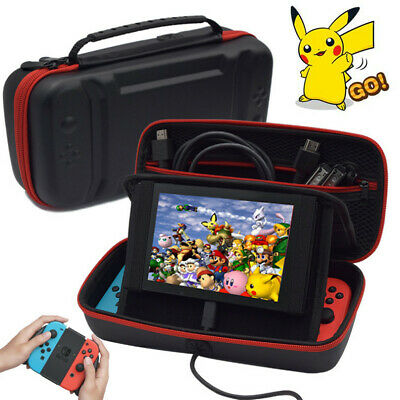 Nintendo Switch Stand Travel Bag Carry Case With Charge Hole and Gamm Card Slot