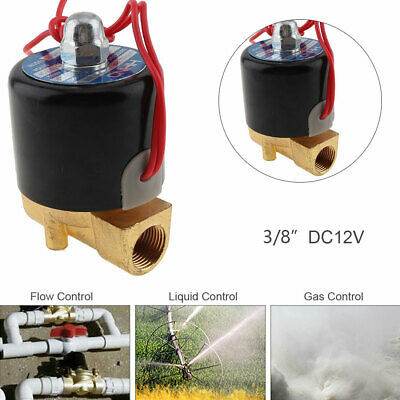 """3/8"""" DC 12V Normally Closed Type Electric Solenoid Valve for Air Water Gas Oil"""