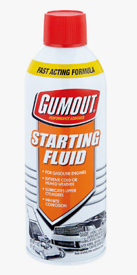 Gumout STARTING FLUID 11 oz. Gasoline Engines Lubricates Fast Acting 5072866 NEW