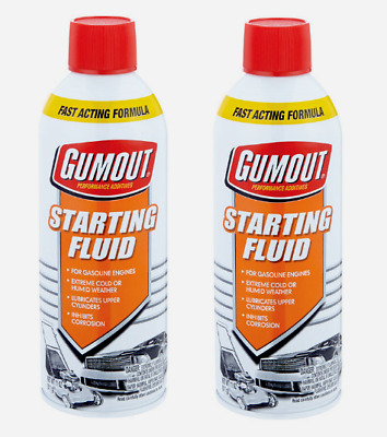 2pk~Gumout STARTING FLUID 11 oz. Gasoline Engines Lubricates Fast Acting 5072866