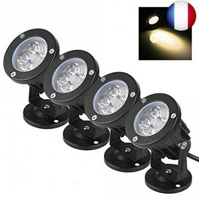 Bloomwin 4PCS Projecteur Led Jardin Exterieur 5W 500LM IP65  (Blanc Chaud -4pcs)