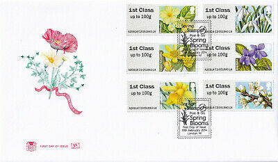 (38938) GB Stuart FDC Flora Spring Blooms Post and Go STAMPEX London N1 2014