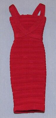 Herve Leger Barbie Doll Red Bandage Dress Only for Model Muse Body