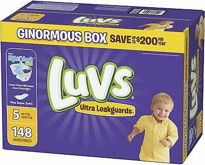 Luvs Ultra Triple Leakguards Disposable Baby Babies Diapers Size 5 148 Count New