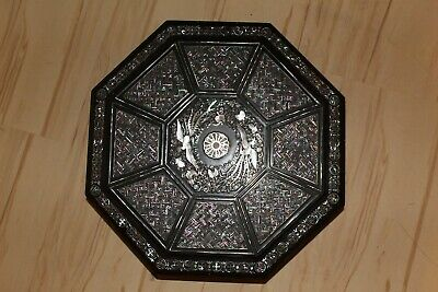 vintage Chinese/Japanese phoenix lacquer box decorated mother of pearl #H30