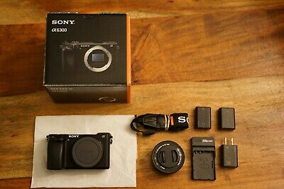 Sony Alpha A6300 24.2MP With 16-50mm Kit Lens + Extra Battery & Acc