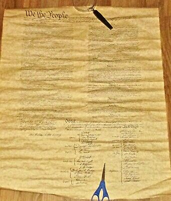 Reproduction Of The US Constitution On Parchment Paper & Currency 1760-1780
