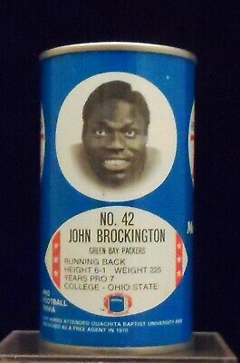 Royal Crown Cola RC Late 1970s John Brockington Green Bay Packers 12 Ounce Can