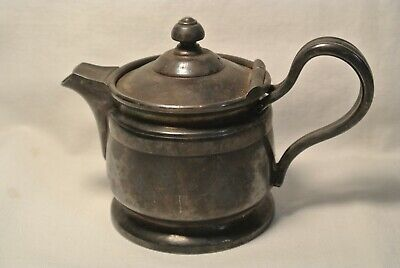 Reed & Barton Silver Soldered 1P. Creamer Pitcher, Hinged Lid