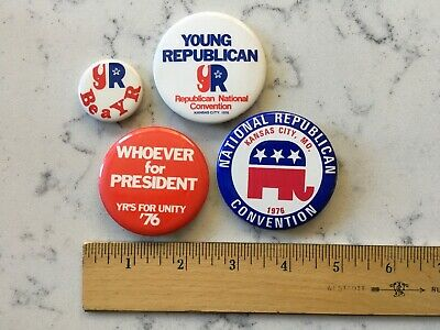 Group Gerald Ford 1976 Republican Convention Political Campaign Pinback Button
