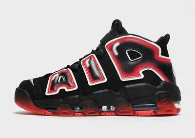 """Nike Air More Uptempo 96 """"BLACK / red-"""" Men's Trainers Limited NEW EDITION"""