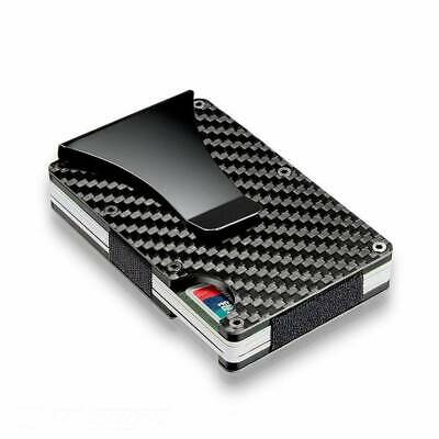 Minimalist RFID Blocking Metal Wallet Wallets Credit ID Card Holders Money Clip