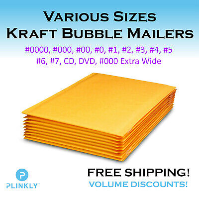 Any Size Kraft Bubble Mailers Padded Self Sealing Bags Mailing Envelopes