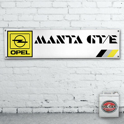 Opel Manta Garantie Werkstatt/Garage/Showroom/Mancave 1700x430mm