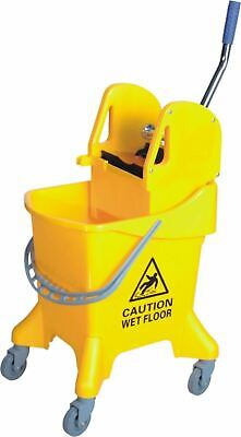 YELLOW Kentucky Wringer 31L Large Mop Bucket on Wheels Commercial Cleaning