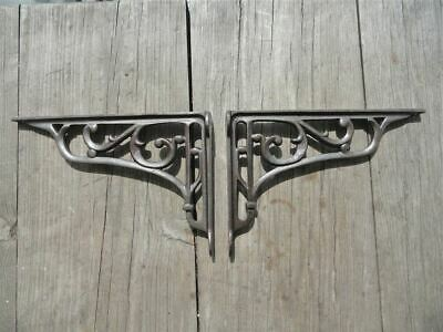 Pair Of Cast Iron Edwardian Scroll Brackets Shelf Brackets Wall Bracket Sc2