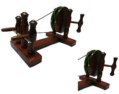Persian Wooden Spinning Wheel Device Model cotton and thin yarn Handicraft