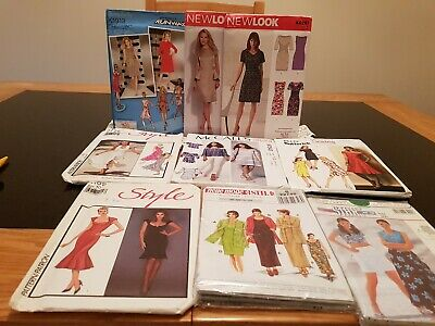 Job Lot Of 9 Sewing Patterns - Unchecked Bundle.