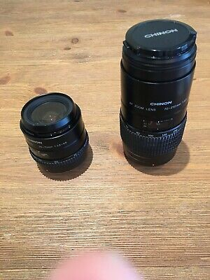 Chinon Lenses: 28-70mm f3.5-4.5 Macro And 70-210mm f4.5 For Pentax K mount