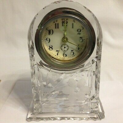 "Ansonia Clock Company Crystal 8.25"" Vintage Desk Mantle Clock New Quartz Movemen"