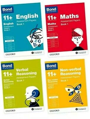 Bond 11+ Preperation Books 10-11 Years Assessment Papers Set of 4 Books UK