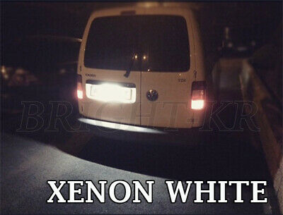 Vw Caddy Xenon White Number Plate Led Upgrade Light Bulbs Canbus
